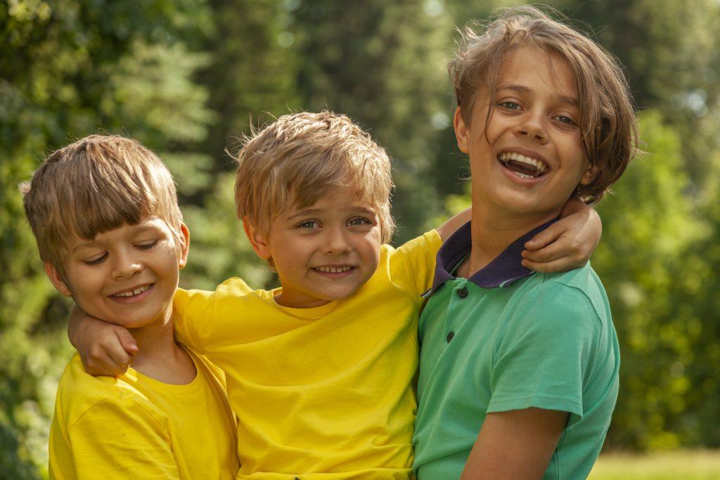 3 happy boys