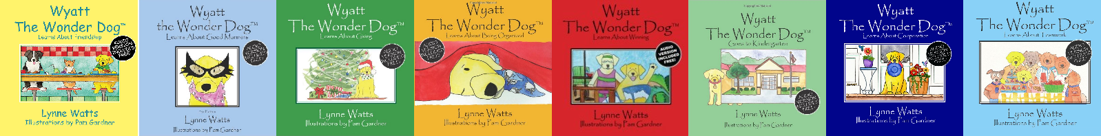 Wyatt the Wonder Dog books-x200