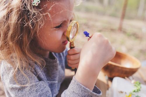girl exploring nature i