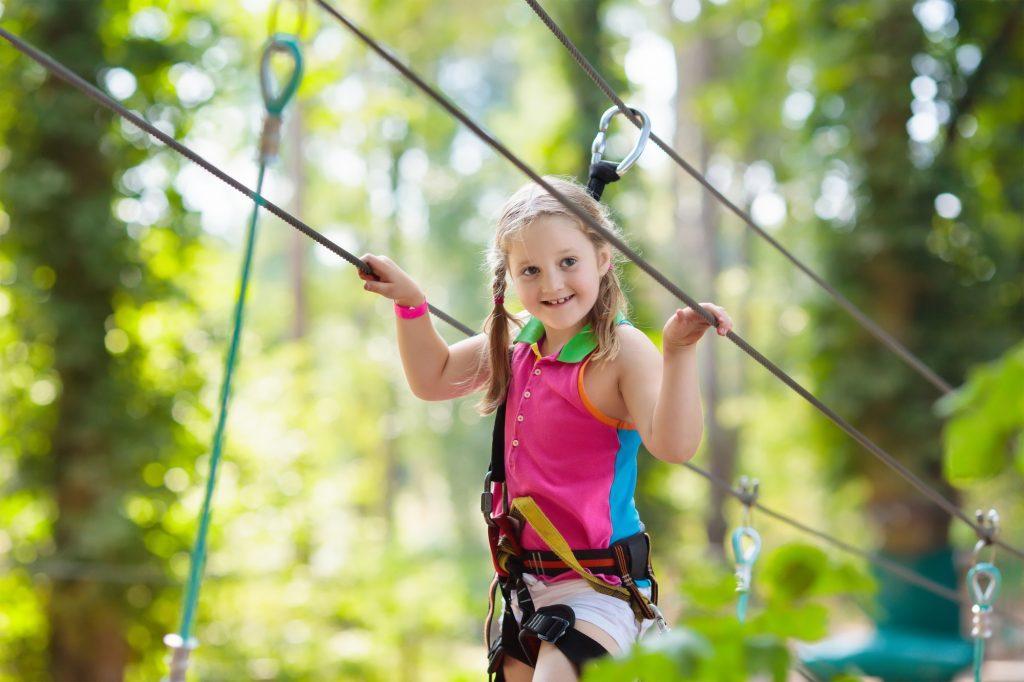 girl on high rope